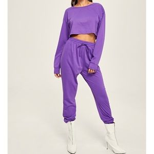 SHEIN PURPLE SWEAT SET